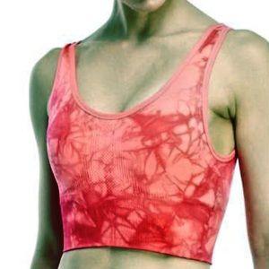 Neon Tie-Dye Cropped Sport Top! NEW!